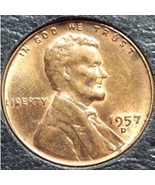 1957-D Lincoln Wheat Penny MS-60 #199 - $0.49