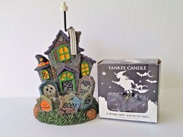 Yankee Candle Boney Bunch Haunted House Tea Light Holder With Tea Lights - $28.45