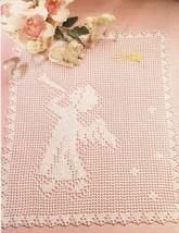 Country Chapel Wall Hanging Xmas Angel Mat Key Largo Curtain Crochet PATTERN image 2