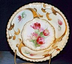 Decorative Porcelain Bowl Signed by  J.S Leaz AA20-2320 Vintage