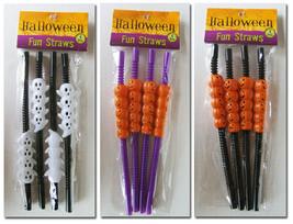 Halloween ~ Fun Straws ~ Reusable ~ Ghosts Pumpkins - $2.25