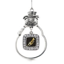 Inspired Silver Trumpet Classic Snowman Holiday Christmas Tree Ornament ... - $14.69