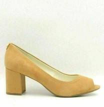 Anne Klein Meredith Women Suede Peep Toe Pump Heels Size US 10.5M Natural - $55.62