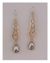 Drop earrings w/faux stone - $8.77
