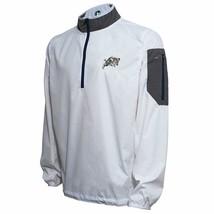Crable NCAA Navy Lightweight Windbreaker Jacket Size M Pullover White 1/4 Zip - $23.13
