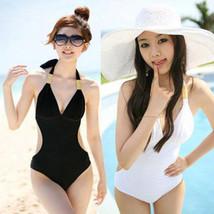 Women Swimwear Bathing One-Piece Padded Bandage Bra Push-up Suit Swimsui... - $11.28