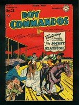 BOY COMMANDOS #26 1948-WILD HORSE RACING COVER-FLYING SAUCERS-  vg VG - $94.58