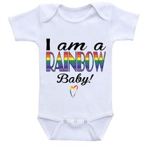 I am a RAINBOW Baby, Cute Gift Baby Bodysuit By Apparel USA™ - $16.95