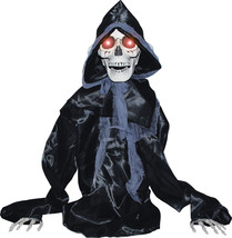 Halloween Animated RISING BLACK SKELTON REAPER Prop SEE VIDEO - €81,90 EUR