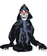 Halloween Animated RISING BLACK SKELTON REAPER Prop SEE VIDEO - $92.57
