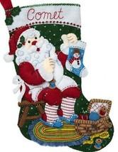 Bucilla Stitching Santa Sewing Basket Craft Christmas Felt Stocking Kit ... - $38.95
