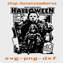 John Carpenters Halloween The Night He Came Home Svg Png Dxf Digital files  - $1.99