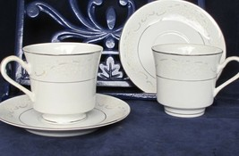 Towne China Footed Cup and Saucer Set lot of 2, Lovelace Replacement Pieces - $8.90