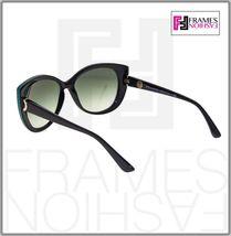 BVLGARI LOGO BV8169Q Black Green Leather Gradient Cat Eye Sunglasses Gold 8169 image 3