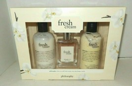 Philosophy Fresh Cream Eau de Toilette Spray Shampoo Shower Gel Lotion G... - $58.00