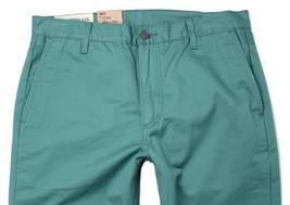 NEW LEVI'S 511 MEN DESIGNER DENIM SLIM FIT STRAIGHT LEG JEANS  GREEN 1315-10006 image 2