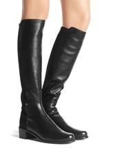 Stuart Weitzman Mixitup Mezzamezza Black Leather Knee Stretch Classic 5050 6.5 - $449.98