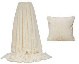fausse fourrure crème rayée Couverture 130 x 180cm & 45.7cm Housse de coussin - $69.44