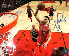 Zach LaVine Signed Chicago Bulls Action 8x10 Photo - $80.00