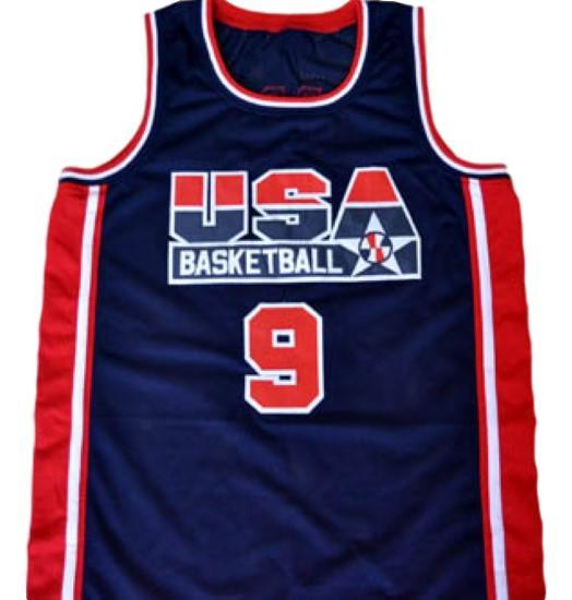 Michael jordan  9 team usa basketball jersey navy blue 1