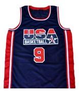 Michael Jordan #9 Team USA Basketball Jersey Navy Blue Any Size - $34.99