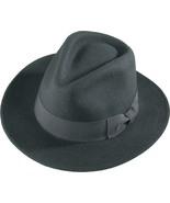 Henschel Soft Wool Felt Big Brim Fedora Wide Grosgrain Ribbon Band Bow  ... - $61.00