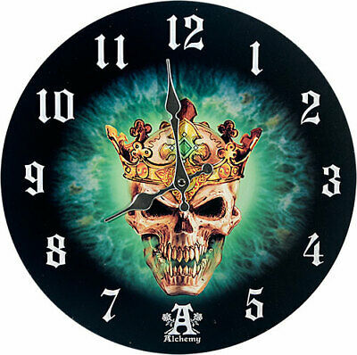 Primary image for Pacific Giftware Prince of Oblivion Wall Clock by Alchemy Gothic Round Plate