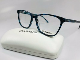 New Calvin Klein CK6010 432 Blue Marble Eyeglasses 54mm with Case - $69.25