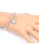 UE- Designer Silver Tone Wrap Bangle Bracelet With Swarovski Style Crystals - $19.99