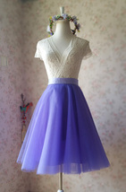 Light-Purple Ballerina Tulle Skirt Girls Plus Size Tulle Tutu Skirt image 5