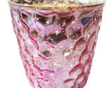 "2.75"" H Votive In Pink Antique Mercury"