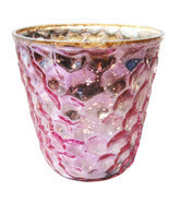 "2.75"" H Votive In Pink Antique Mercury - $28.04"