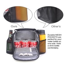 Lunch Box Bag Waterproof Insulated Cooler Tote Meal Prep Lunchbox Should... - $17.74