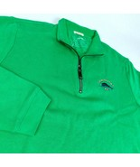 Tommy Bahama Relax Green 1/4 Zip Pullover Shirt Marlin Sz L - $26.99