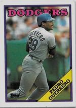 1988 Topps Baseball Card, #550, Pedro Guerrero, Los Angeles Dodgers - $0.99