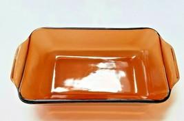 Vintage Anchor Hocking Fire King Bread Loaf Pan 1 QT Amber Glass Baking ... - $12.59