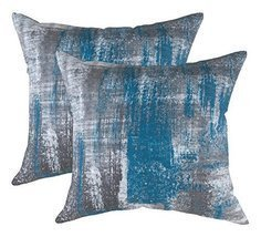 TreeWool, (2 Pack) Throw Pillow Covers Brush Art Accent in Cotton Canvas... - €17,64 EUR