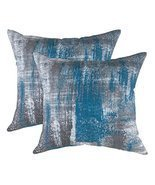 TreeWool, (2 Pack) Throw Pillow Covers Brush Art Accent in Cotton Canvas... - $26.53 CAD