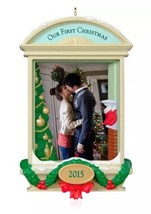 HALLMARK Our First Christmas 2015 NEW Photo Frame-Holder FREE SHIPPING - $19.95