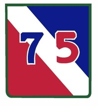 US Army 75th Infantry Division 4'' Sticker Military - $9.89