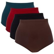 Rhonda Shear 4-pack Seamless High-Waist Panty in Darks, Large (625448) - $38.60
