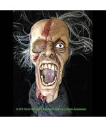 Realistic Life Size Zombie SHRUNKEN SEVERED HUMAN HEAD Haunted House Hor... - $49.97