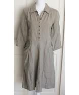 J Jill Green 100% Linen 3/4 Sleeve Casual Lightweight Shirt Dress Petite... - $26.95