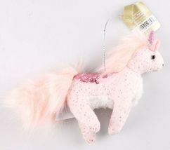 NWT 2 Target Wondershop Enchanted Eve Cloth & Sequin Unicorn Christmas Ornaments image 4