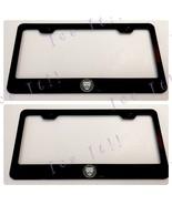 2X Jaguar Cat Laser Engraved Etched Stainless License Plate Frame - $37.13