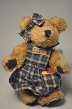 Boyds Bears & Friends: Clementine - 6 Inch Plush Bear - Blue Plad Dress Bearwear - $10.68