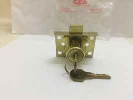 CCL  DESK-DRAWER /CABINET LOCK With 4 Screws, Brass - $7.18