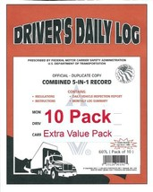 J.J. Keller 607L 5-In-1 Driver's Daily Log Book, 2-Ply, w/Carbon. Book F... - $70.05