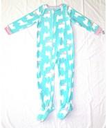 Carters Fleece Footed Pajama Blanket Sleeper 7 8 10 12 14 Llama Turqoise... - $23.74