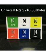 6pcs Universal NFC Tags Multicolor NFC Tag Square Stickers Lables For De... - $12.86